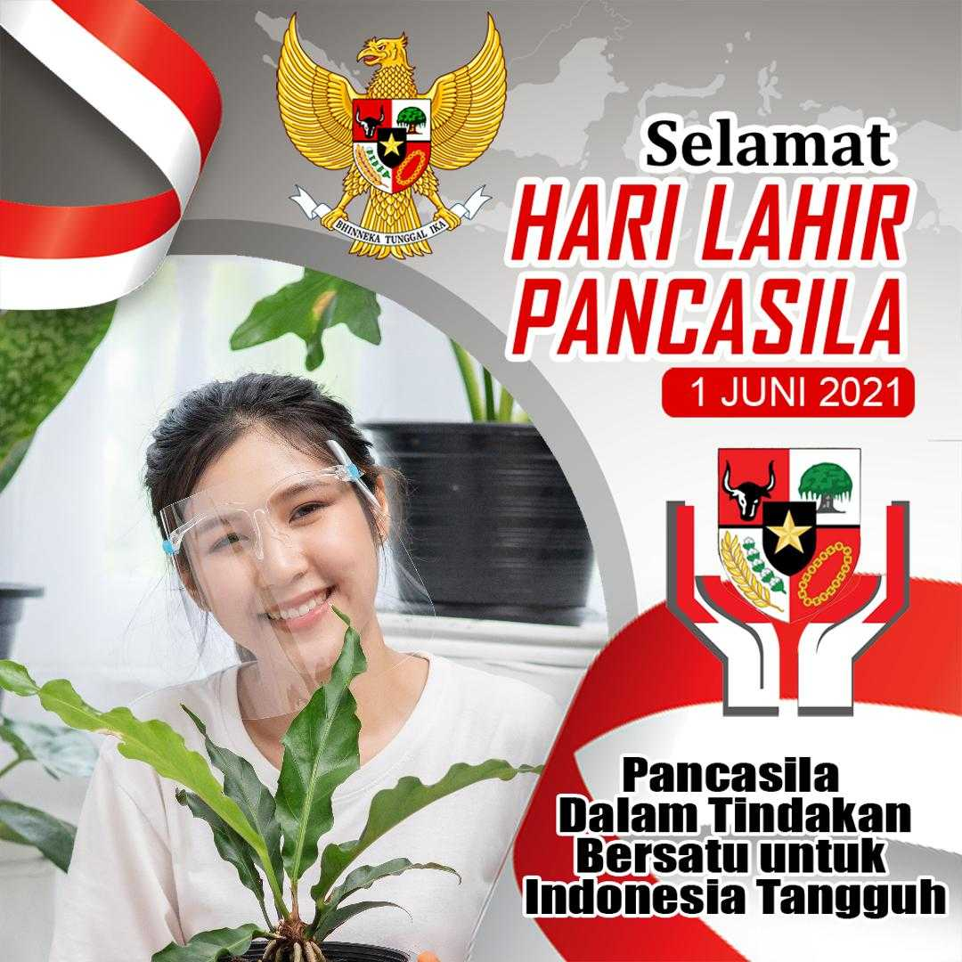Contoh Hasil Twibbon HARI LAHIR PANCASILA (by Kv Mubarok)