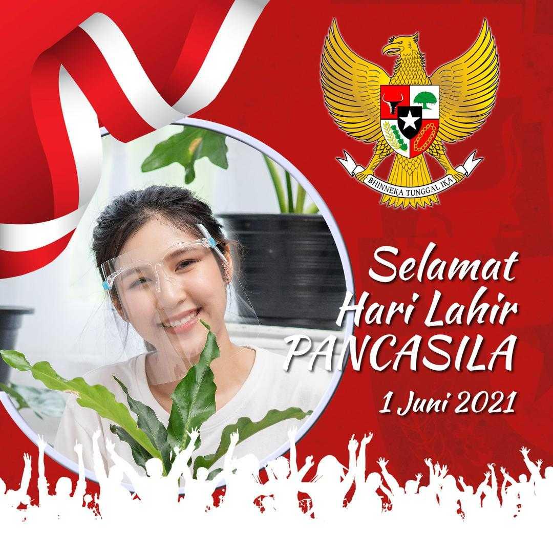 Contoh Hasil Twibbon Hari Lahir Pancasila 2021 (by Ibud Budiyanto)