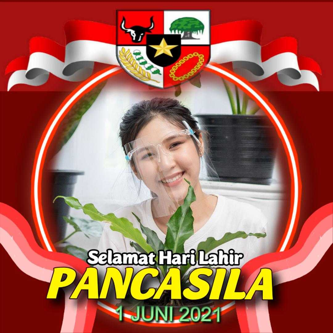 Contoh Hasil Twibbon Hari Lahir Pancasila (by Harry Prima)