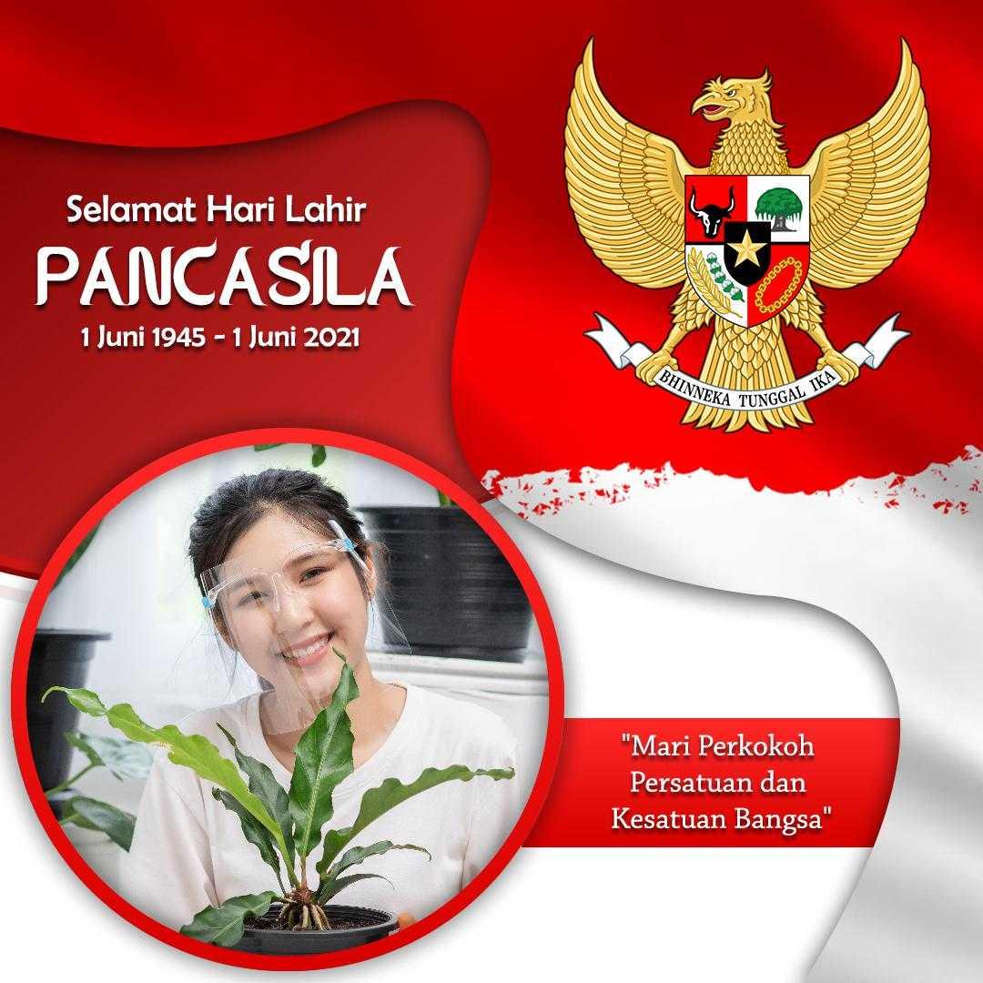 Contoh Hasil Twibbon Ucapan Selamat Hari Pancasila 2021 (by Hayfik Graphicdesign)