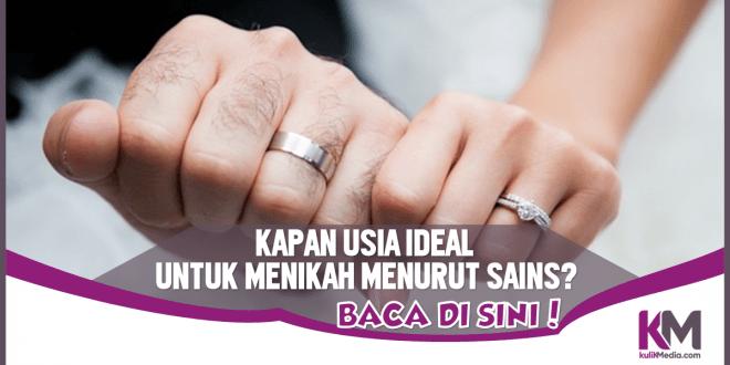 Ini Usia yang Ideal untuk Menikah Menurut Sains