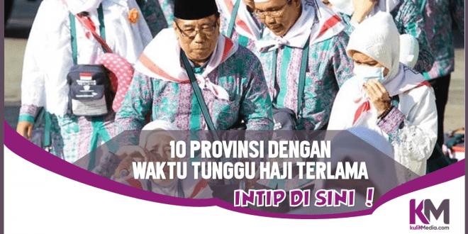 Inilah 10 Provinsi dengan Waktu Tunggu Haji Terlama