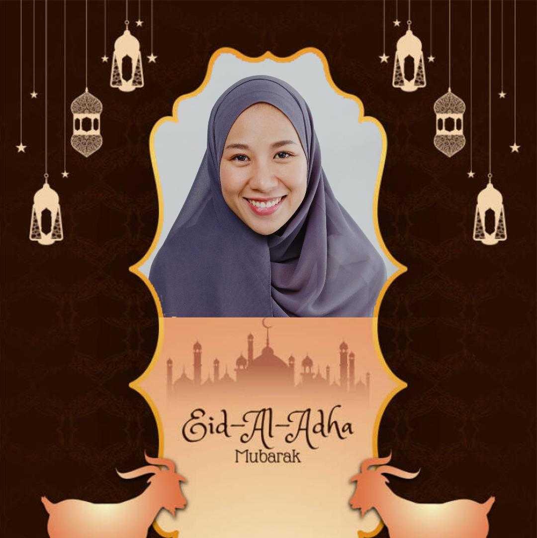 Contoh Hasil Twibbon IDUL ADHA (by Restu Elqaffa)