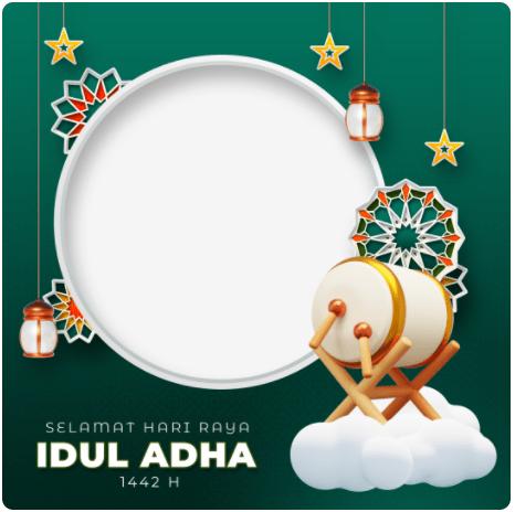 Template Twibbon Selamat Hari Raya Idul Adha 1442 H 2021 M (by Irizuna)